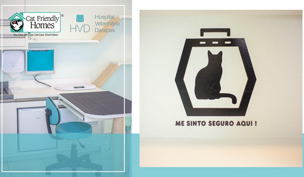 O Hospital Veterinário Darabas conta com o selo Cat Friendly Practice (Clínica Amiga do Gato)